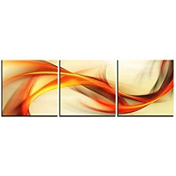Most Up To Date Abstract Orange Wall Art Intended For Amazon: Canvas Print Wall Art Painting For Home Decor Abstract (View 6 of 15)