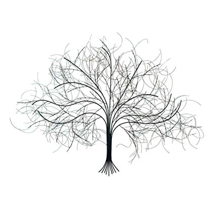 Most Up To Date Amazon: Signals Black Tree Wall Decor Sculpture – Handcrafted Throughout Tree Wall Art Sculpture (View 5 of 15)