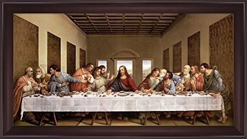 Most Up To Date Amazon: The Last Supperleonardo Da Vinci Framed Art Print Regarding Last Supper Wall Art (View 13 of 15)