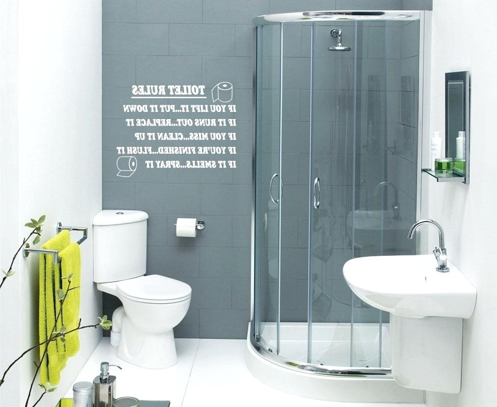 Most Up To Date Amusing Wall Decals For Bathroom Quotes Bathroom Quotes Rules Wall Within Shower Room Wall Art (View 7 of 15)