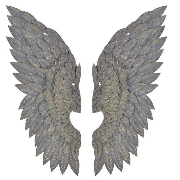 Most Up To Date Angel Wings Wall Art With Regard To Gilt Metal Angel Wings Wall Art Feather Effect – Free Delivery (View 15 of 15)