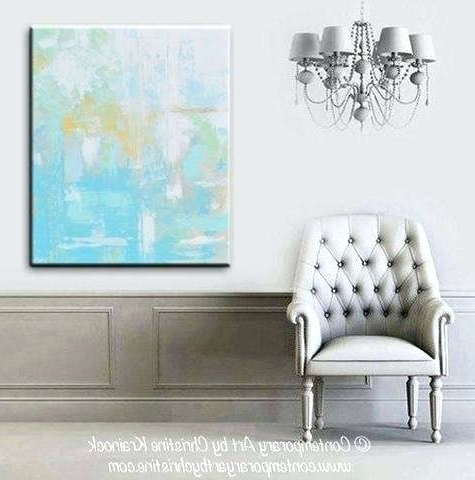 Most Up To Date Blue And Gray Wall Art Lovely Original Light Abstract Painting Aqua With Light Abstract Wall Art (View 13 of 15)