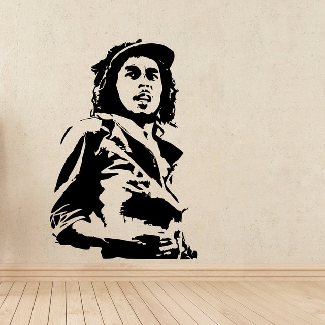 Most Up To Date Bob Marley Wall Art Pertaining To Bob Marley Wall Stickers For Kids Rooms Wall Decals Living Room Home (View 8 of 15)
