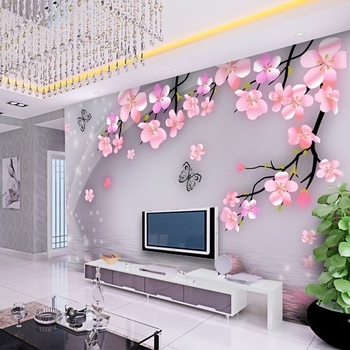 Most Up To Date Buy Art Wall Stickers Modern Chinese Style Mural 3D Three Intended For Flowers 3D Wall Art (View 9 of 15)