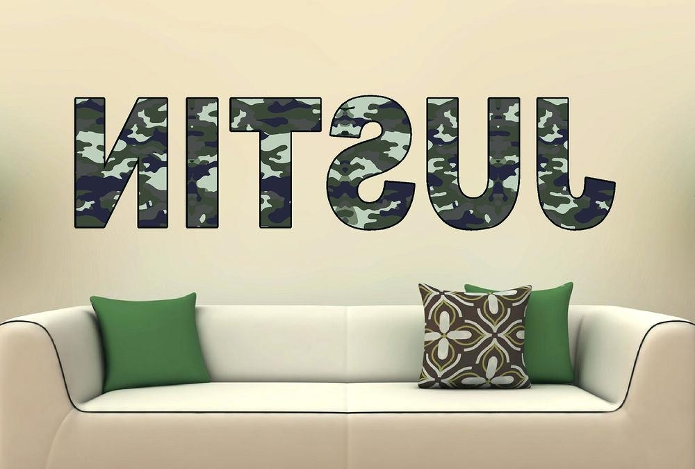 Most Up To Date Camouflage Wall Art Personalized Uflage Name Vinyl Wall Decal Inside Camouflage Wall Art (View 1 of 15)