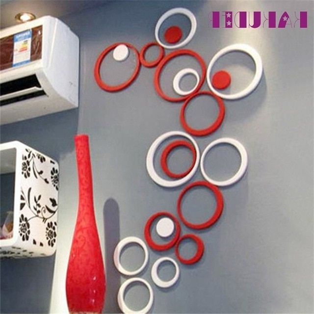 Most Up To Date Circles 3D Wall Art Throughout Indoors Decoration Circles Stereo Removable 3D Art Wall Sticker For (View 9 of 15)