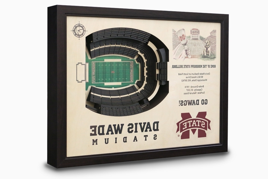 Most Up To Date Davis Wade Stadium 3 D Wall Art – Mississippi State Bulldogs Football Within 3D Stadium View Wall Art (View 14 of 15)