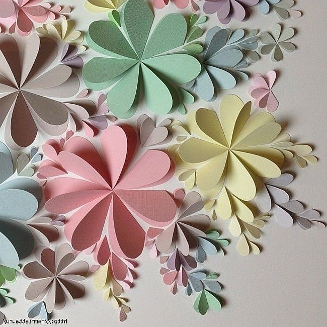 Most Up To Date Delightful Diy Paper Flower Wall Art – Free Guide And Templates With Regard To 3D Paper Wall Art (View 15 of 15)