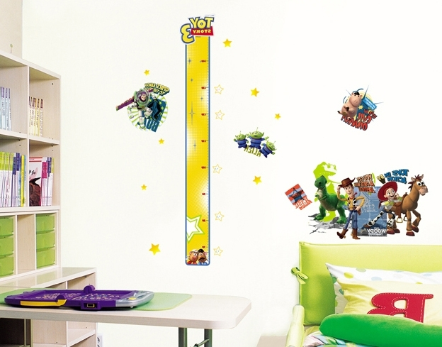Most Up To Date Disney Toy Story 3 Height Measure Wall Stickers – Wallstickery Throughout Toy Story Wall Stickers (View 2 of 15)