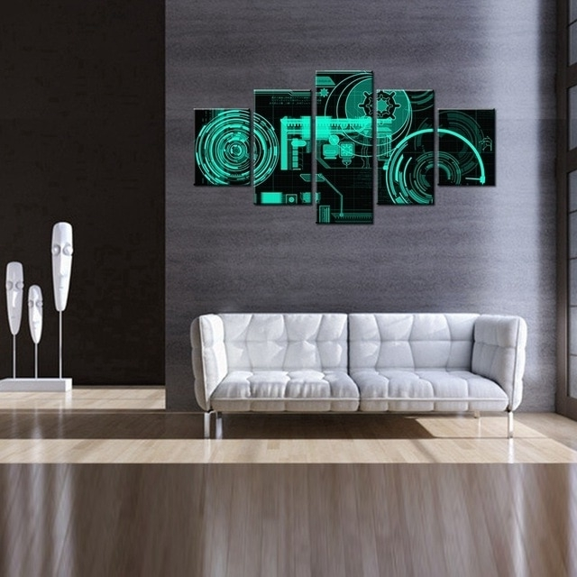 Most Up To Date Electronic Wall Art For Ultra Modern Electronic Technology Component 3D Oil Painting Canvas (View 15 of 15)