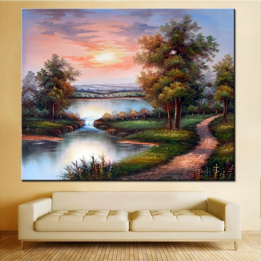Most Up To Date Extra Large Framed Wall Art Pertaining To Extra Large Wall Painting Of Clouds Home Office Decoration Paint (View 11 of 15)