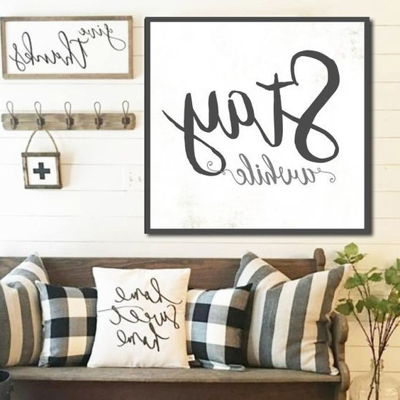 Most Up To Date Farmhouse Wall Art In Large Farmhouse Wall Decor (View 9 of 15)