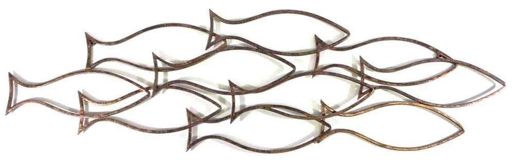 Most Up To Date Fish Shoal Metal Wall Art In Metal Wall Art Fish Shoal – Elitflat (View 9 of 15)