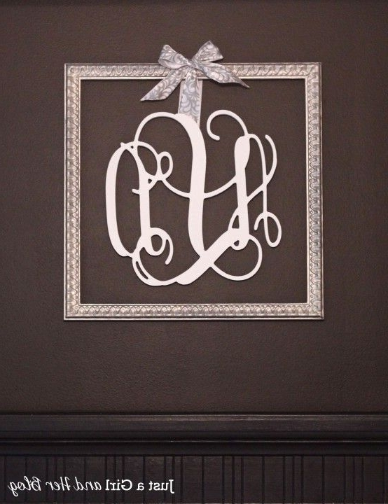 Most Up To Date Framed Monogram Wall Art For 25 Beautiful And Inspiring Diy Wall Art Ideas That Will Have Your (View 6 of 15)