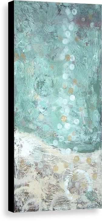 Most Up To Date Give Your Coastal Home A Tranquil Feeling With This Turquoise Aqua Intended For Aqua Abstract Wall Art (View 7 of 15)