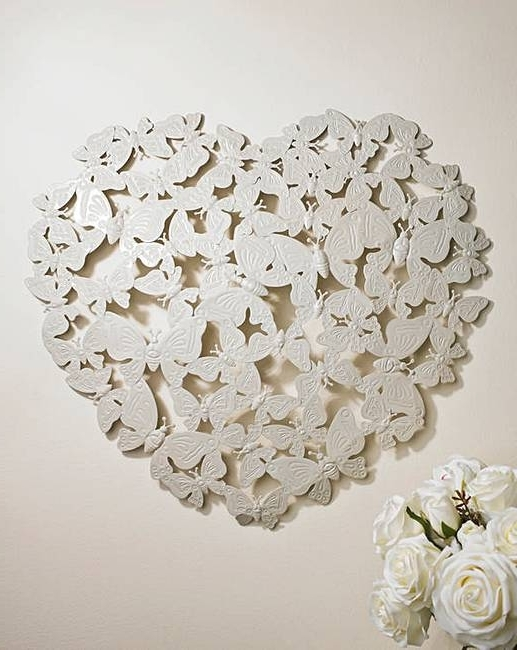 Most Up To Date Heart 3D Wall Art Pertaining To 3D Butterfly Heart Wall Art Home Beauty Gift Shop F04Zh950001S (View 15 of 15)