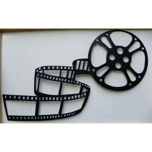 Most Up To Date Home Theater Decor Movie Reel And Film Metalcool Reels Wall Art With Film Reel Wall Art (View 5 of 15)