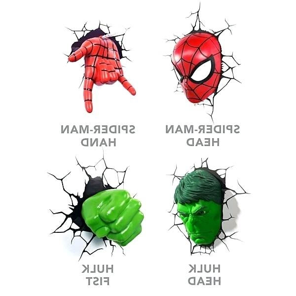 Most Up To Date Hulk Hand 3D Wall Art Within Marvel 3D Lights Hulk Fist Marvel 3D Wall Lights Uk (View 14 of 15)