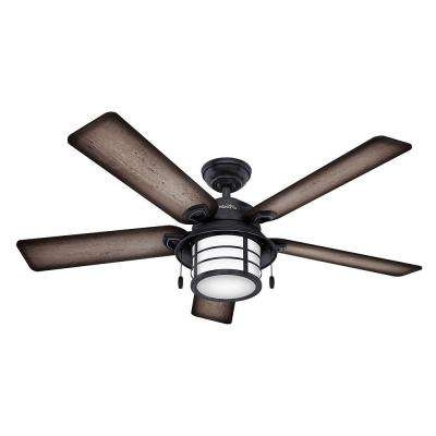 Most Up To Date Hunter Outdoor Ceiling Fans With Lights In Hunter – Cfl – Outdoor – Ceiling Fans – Lighting – The Home Depot (View 3 of 15)