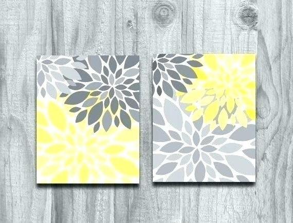 Most Up To Date Incredible Yellow And Gray Wall Decor Ideas (View 6 of 15)