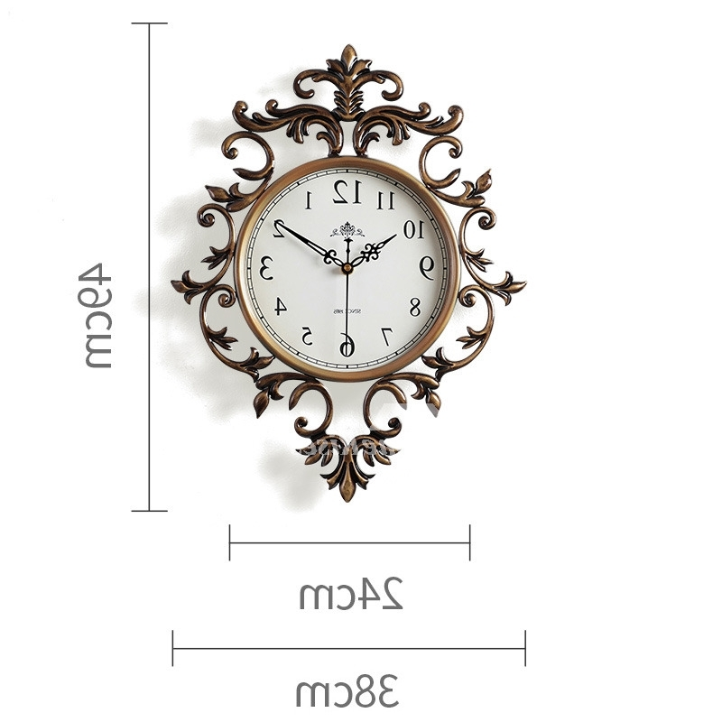 Most Up To Date Large Art Deco Wall Clocks Regarding Art Deco Wall Clock Hanging 15/19 Inch Large Rustic Metal Silent Best (View 14 of 15)