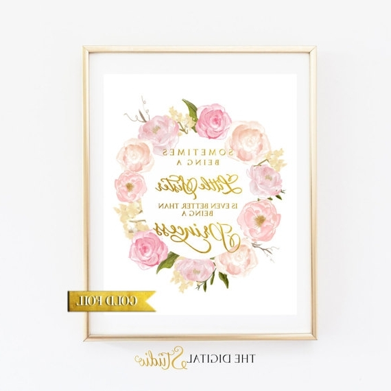 Most Up To Date Little Girl Wall Art In 40 Girls Wall Art, Girls Wall Art Promotion Shop For Promotional (View 9 of 15)