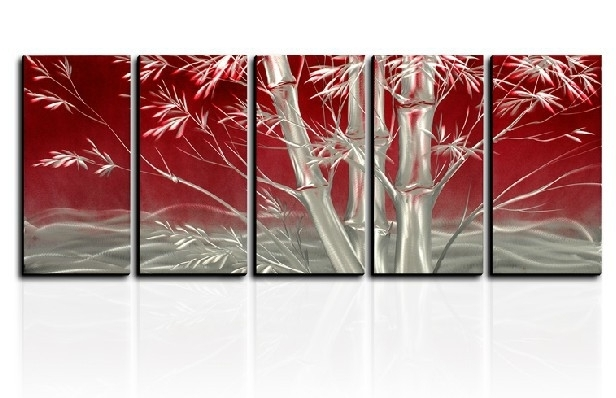 Most Up To Date Lucky Bamboo Metal Wall Art Contemporary Sculpture Home Decor In Bamboo Metal Wall Art (View 11 of 15)