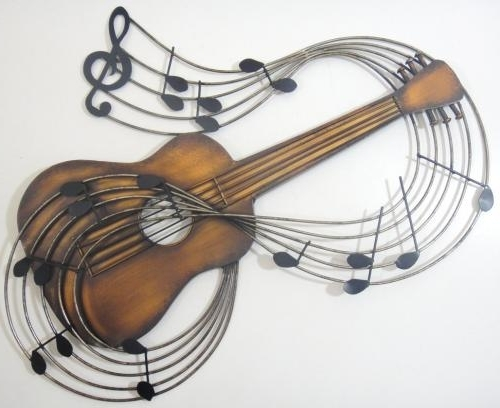 Most Up To Date Metal Wall Art – Bronze Guitar Pertaining To Guitar Metal Wall Art (View 12 of 15)