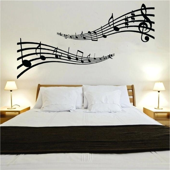Most Up To Date Music Note Art For Walls Within Music Note Art For Walls Musical Notes Vinyl Wall Art Shop With (View 6 of 15)