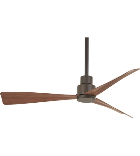 Most Up To Date Oil Rubbed Bronze Outdoor Ceiling Fans Inside Minka Aire F786 Orb Simple 44 Inch Oil Rubbed Bronze With Medium (View 11 of 15)