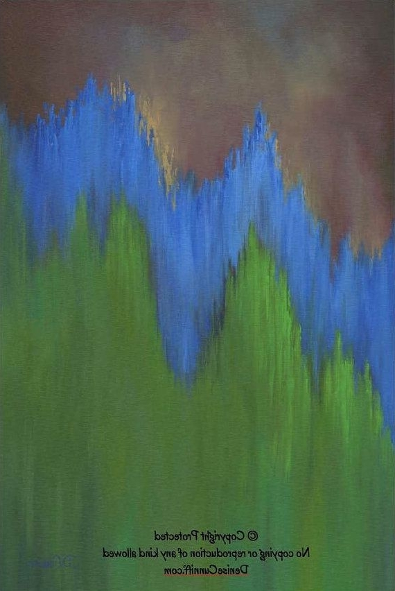 Most Up To Date Olive Green Abstract Wall Art Regarding Large Abstract Wall Art In Cobalt Blue, Olive Green And Brown (View 8 of 15)
