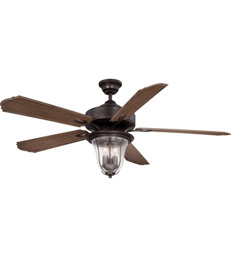 Most Up To Date Outdoor Ceiling Fans Pertaining To Savoy House 52 135 5Wa 13 Trudy 52 Inch English Bronze With Walnut (View 9 of 15)
