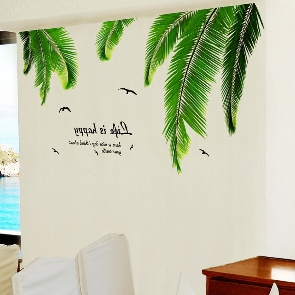 Most Up To Date Palm Leaf Wall Decor Pertaining To Sofa Ideas (View 4 of 15)
