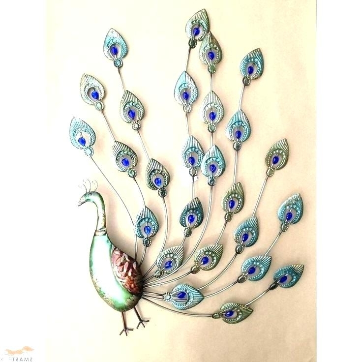 Most Up To Date Peacock Wall Art Decor Jeweled Peacock Wall Art Peacock Wall Art Regarding Jeweled Peacock Wall Art (View 12 of 15)