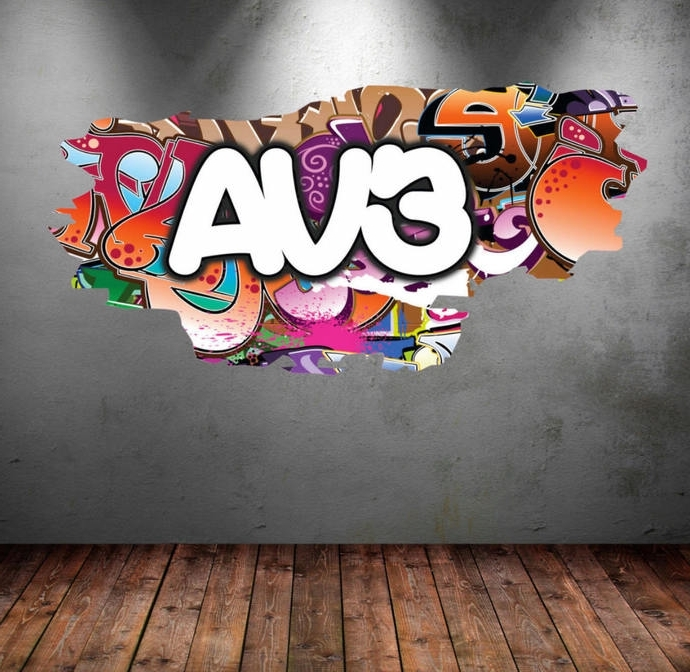 Most Up To Date Personalized Graffiti Wall Art With Personalized Name Full Color Graffiti Wall Decalsmysticky On (View 10 of 15)