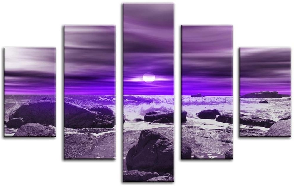 Most Up To Date Purple Canvas Wall Art Inside Wall Decoration (View 8 of 15)