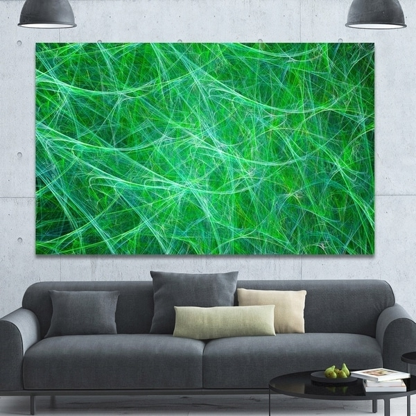 Most Up-to-Date Shop Designart 'mystic Green Fractal Veins' Abstract Wall Art On with regard to Overstock Abstract Wall Art