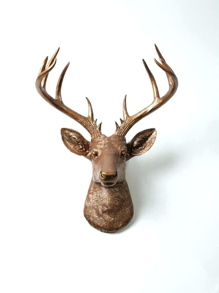 Most Up To Date Stags Head Wall Art Throughout Stag Head Wall Art The Broe Stag Deer Head Wall Mount Faux Taxidermy (View 12 of 15)