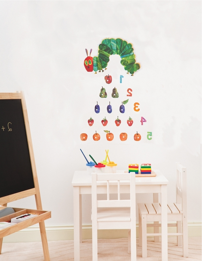 Most Up To Date Very Hungry Caterpillar Wall Art In Very Hungry Caterpillar Wall Stickers (View 4 of 15)