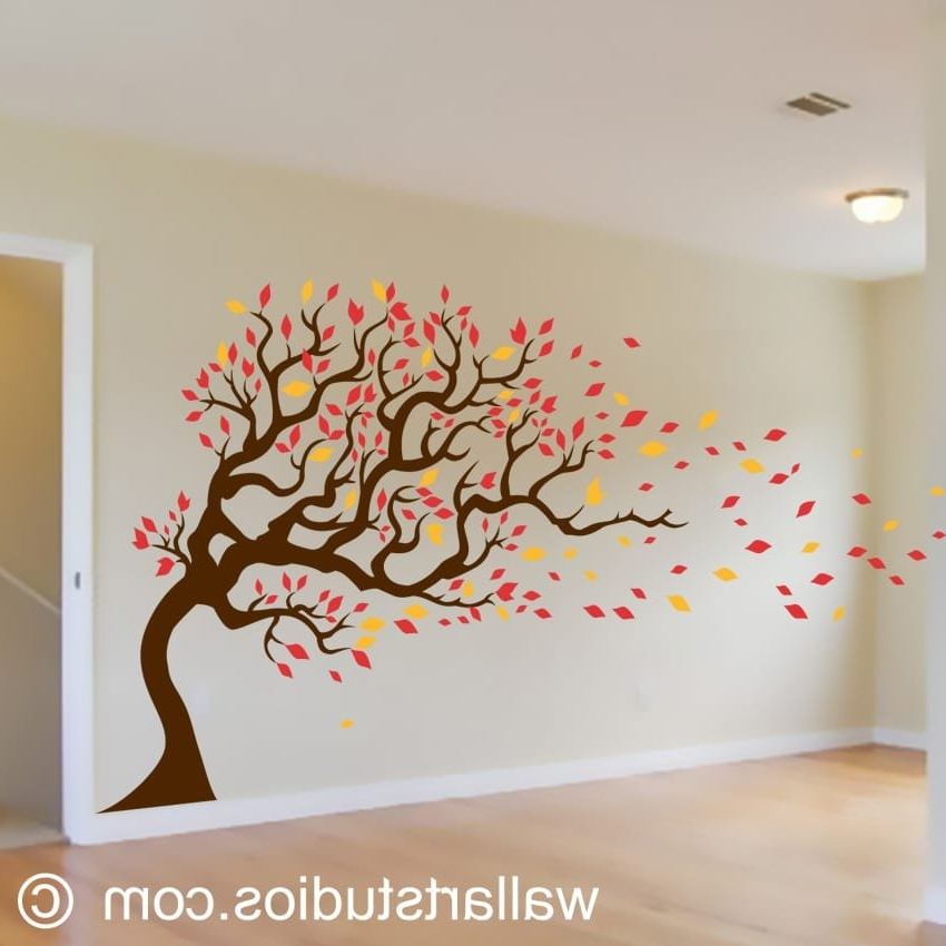 Most Up To Date Vinyl Wall Art Tree With Autumn Tree (View 1 of 15)