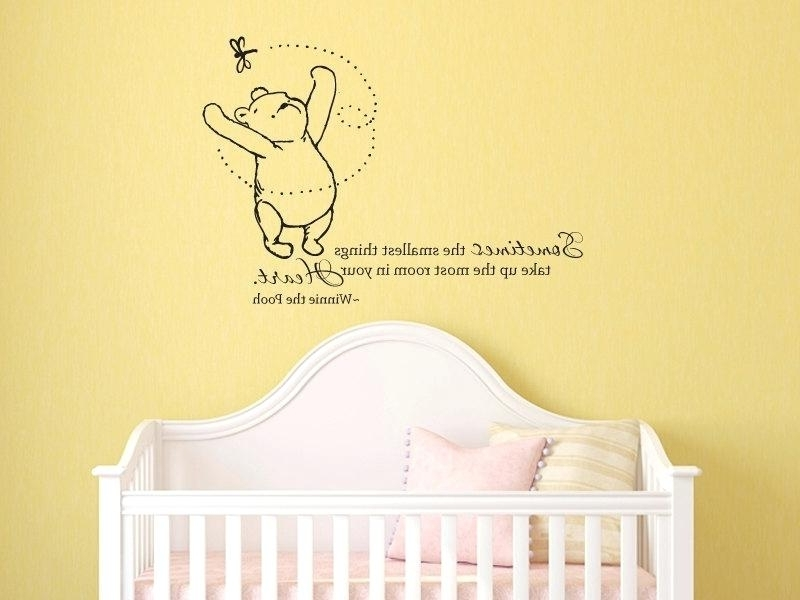 Most Up To Date Winnie The Pooh Vinyl Wall Art The Pooh Wall Decals For Nursery As With Winnie The Pooh Vinyl Wall Art (View 6 of 15)