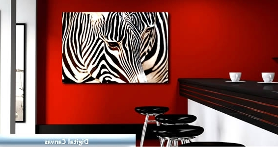 Most Up To Date Zebra Wall Art Canvas Throughout Sofa (View 4 of 15)