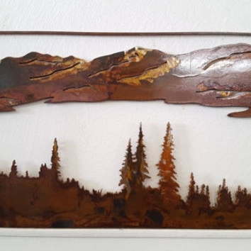 Mountain Scene Metal Wall Art Pertaining To Most Up To Date Shop Outdoor Metal Wall Art On Wanelo, Metal Art Mountain Scenes (View 4 of 15)