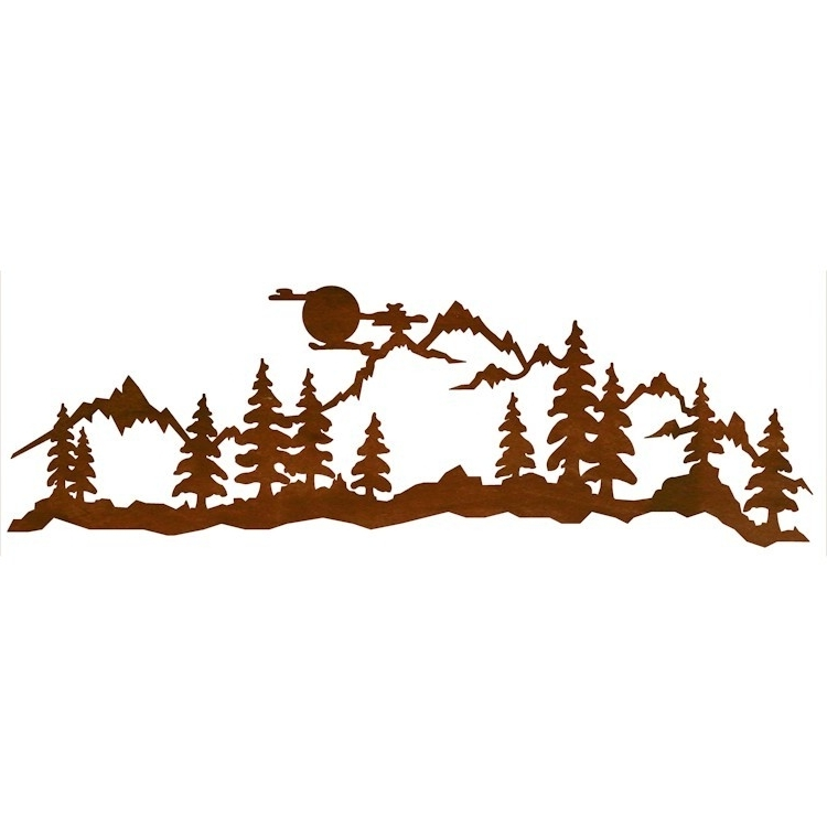 Mountain Scene Metal Wall Art Throughout 2018 Moon At Midnight Mountain Scene Metal Wall Art (View 2 of 15)