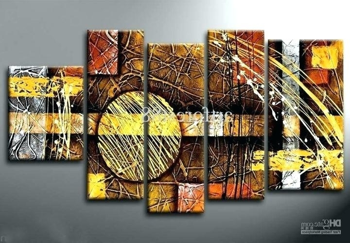 Multi Canvas Wall Art Inside Favorite Multiple Canvas Wall Art Wall Arts Multi Canvas Wall Art Bright And (View 7 of 15)