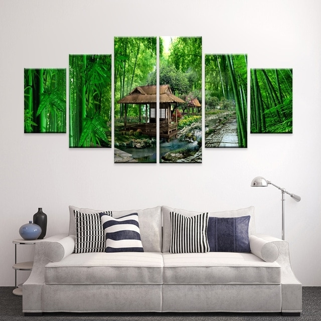 Multi Panel Canvas Wall Art Within 2018 Bedroom Living Room Home Decor Oil Painting Multi Panel Canvas Wall (View 11 of 15)