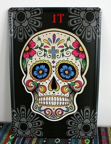 Multi Type! 20*30Cm, 20 Pieces Skull Pinup Tin Sign Metal Art Print Within Most Recently Released Mexican Metal Art (View 13 of 15)