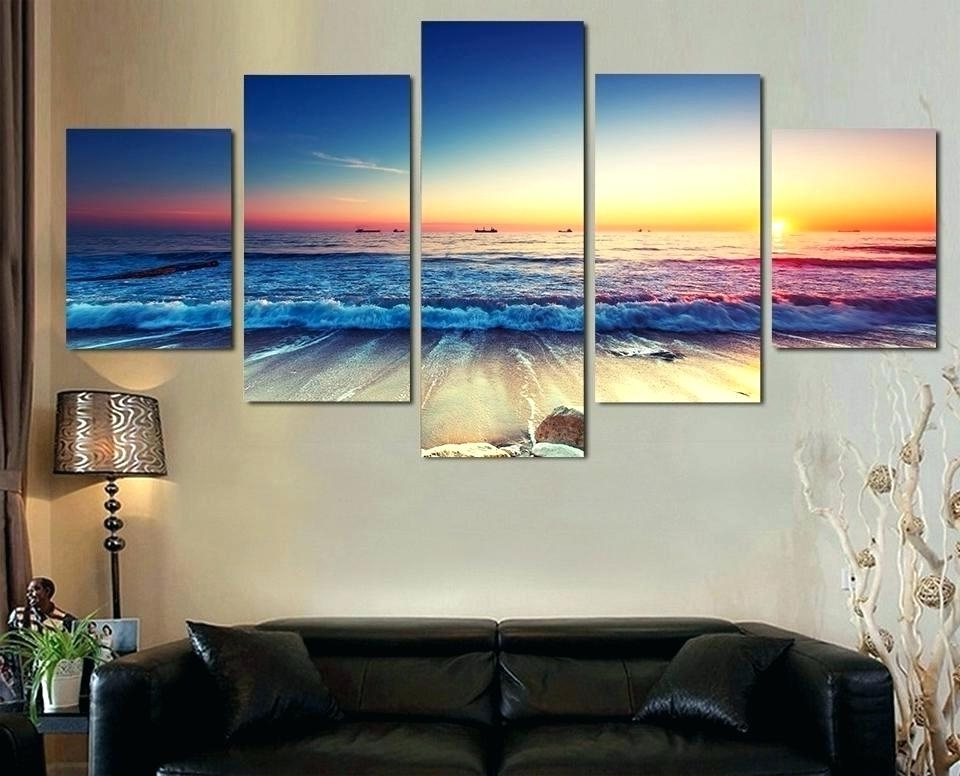 Multiple Panel Wall Art Within Best And Newest Sunset Wall Art Beach Multi Panel Canvas Picture – Wishfeed (View 13 of 15)