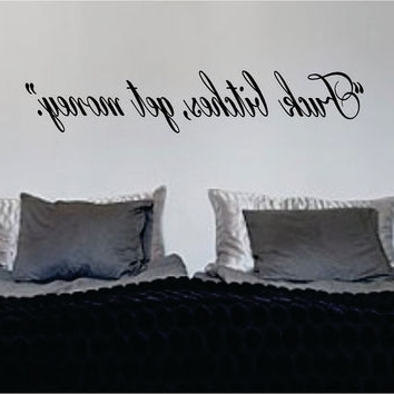 Music Lyrics Wall Art With Regard To Recent Best Lyrics Wall Decals Products On Wanelo (View 12 of 15)