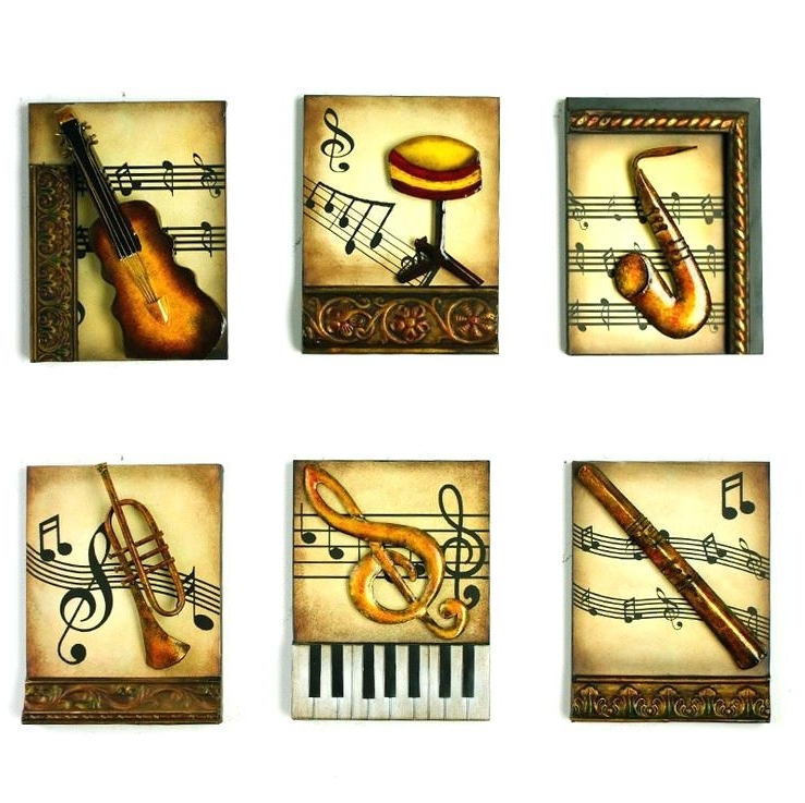 Music Metal Wall Art Musical Instrument Wall Art Black Metal Music With Regard To 2017 Musical Instrument Wall Art (View 8 of 15)